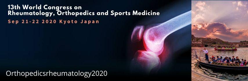 13-й Всемирный конгресс по ревматологии, ортопедии и спортивной медицине, 21–22 сентября 2020 года, Киото, Япония.