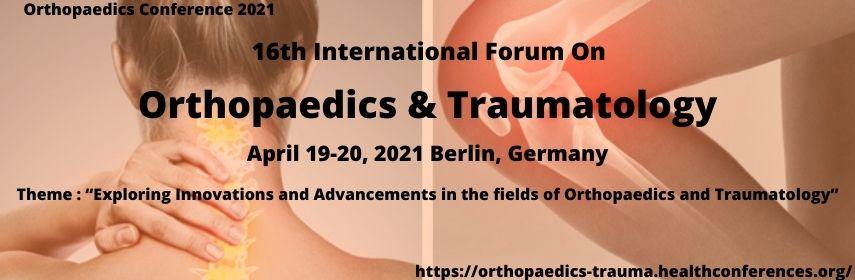 16-й Международный форум по ортопедии и травматологии.19-20 апреля, Берлин, Германия